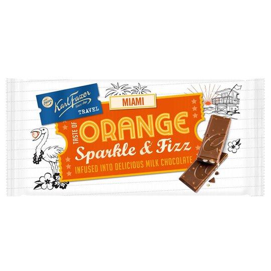 "Maitosuklaa ""Orange Sparkle & Fizz"" 130g - 45% alennus"