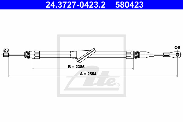 Käsijarruvaijeri ATE 24.3727-0423.2