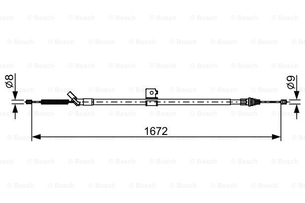 Cable, parking brake BOSCH 1 987 482 630