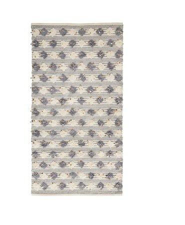 Teppe 170x90 cm - Grå/offwhite