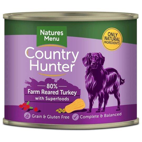 NaturesMenu Country Hunter Dog Kalkon 600 g