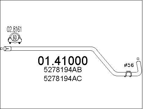 Pakoputki MTS 01.41000