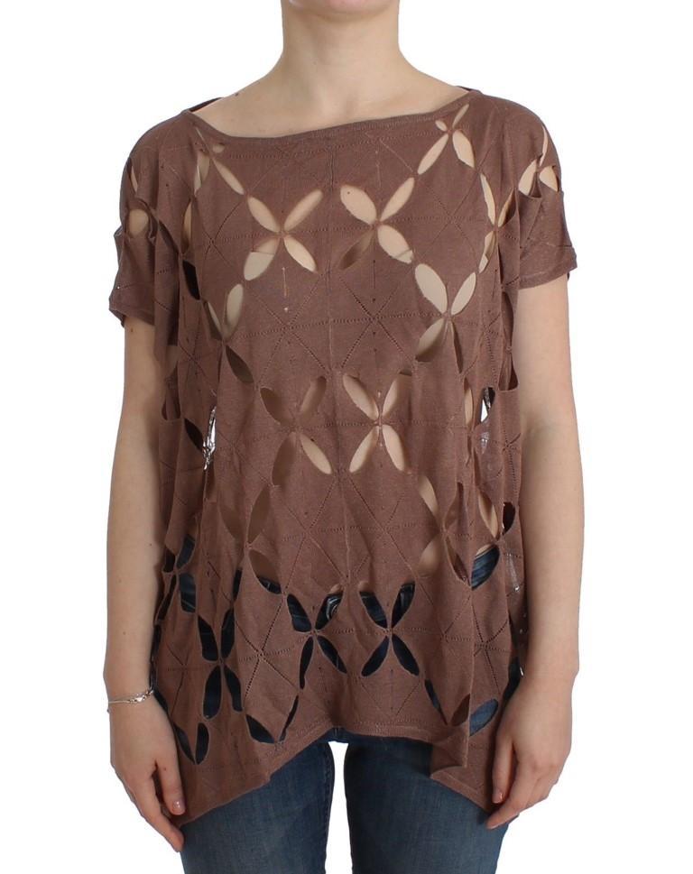 John Galliano Women's SS knit Top Brown SIG11960 - S