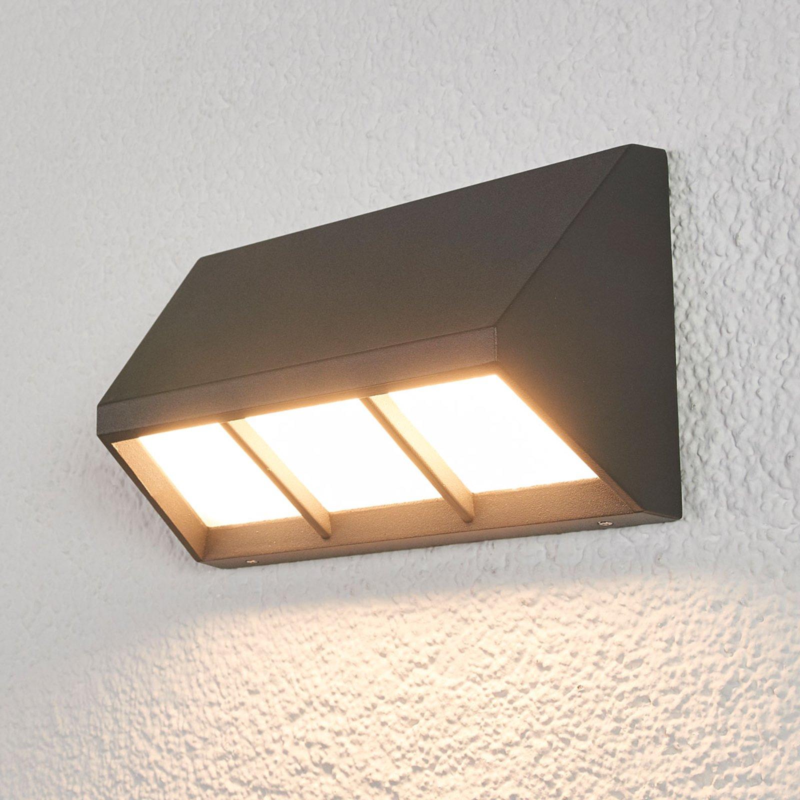 LED-utelampe Cedrick med nedoverrettet lys