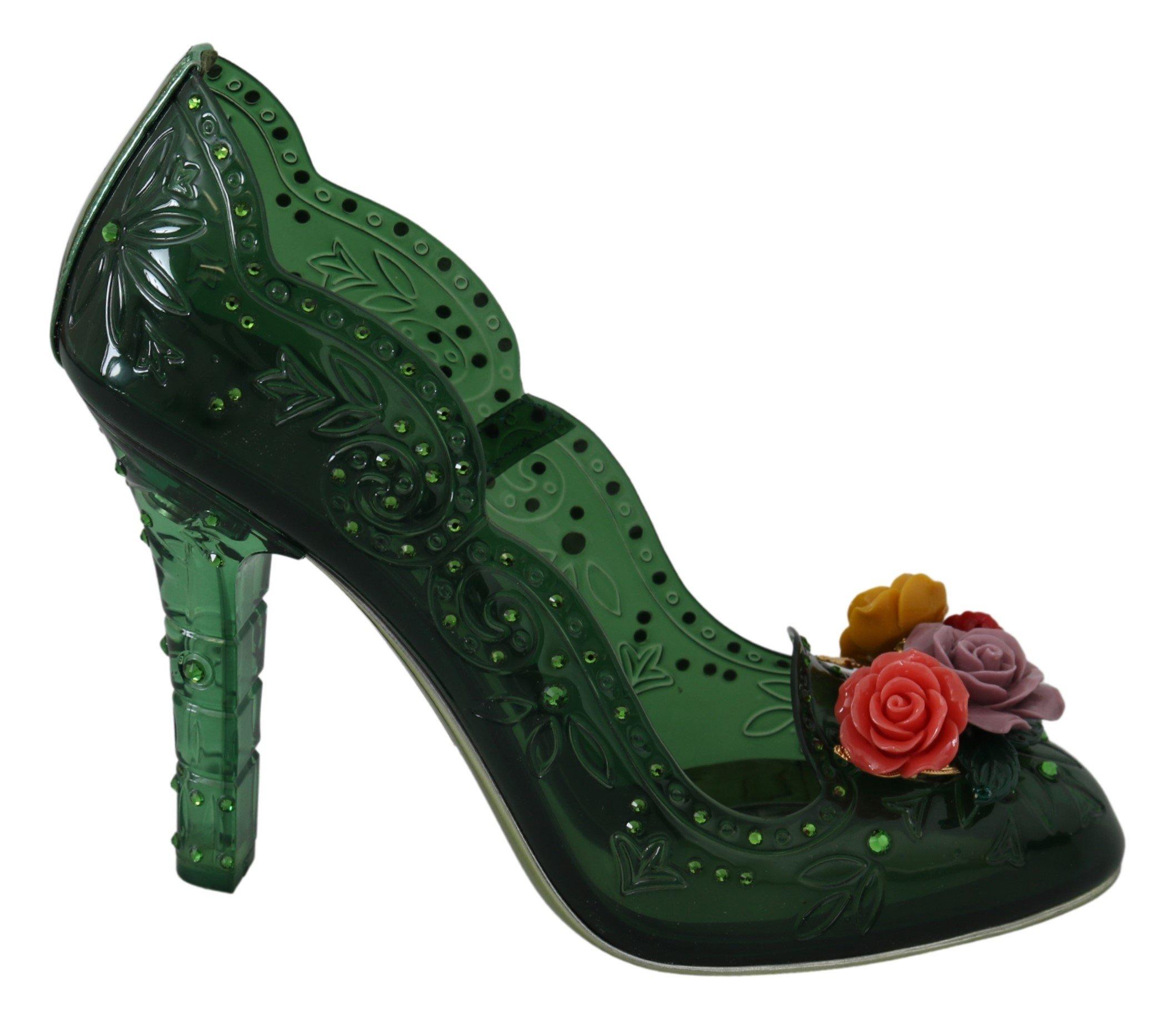 Dolce & Gabbana Women's Floral Crystals Pumps LA7267 - EU39/US8.5