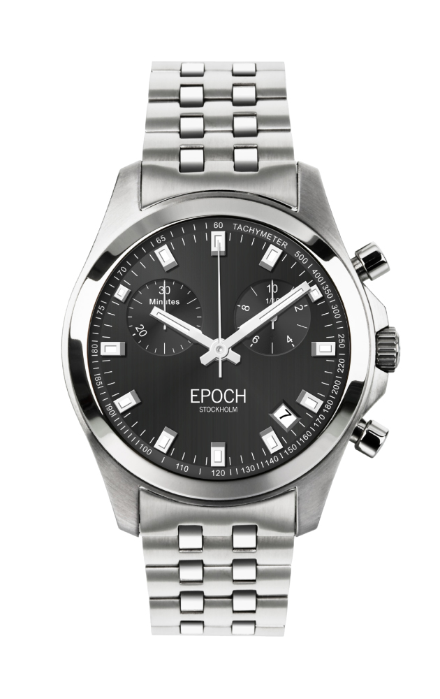 Herrklocka EPOCH President Chronograph Metal Gray EP3302