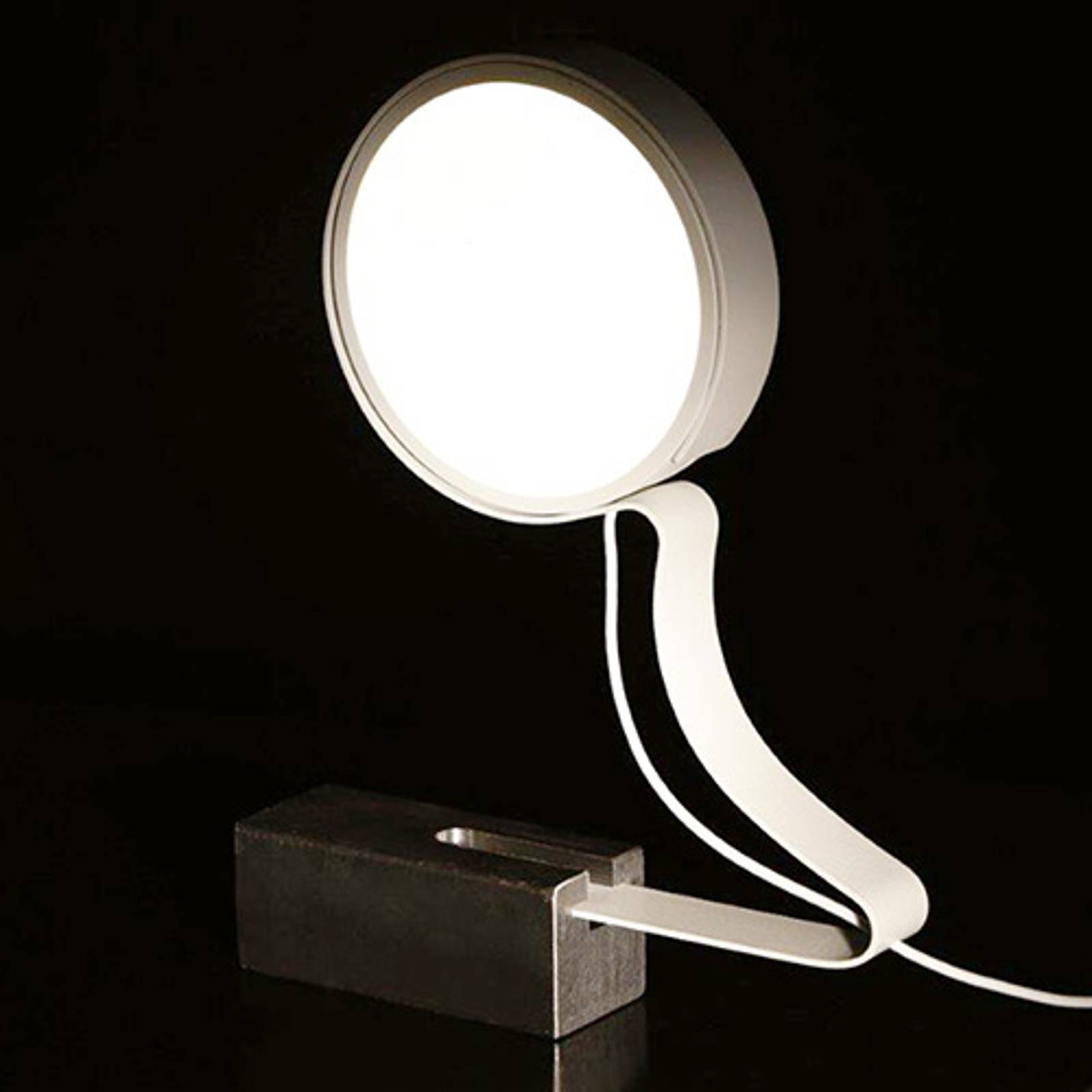 Bordlampe DND Profile med LED-lys, hvit