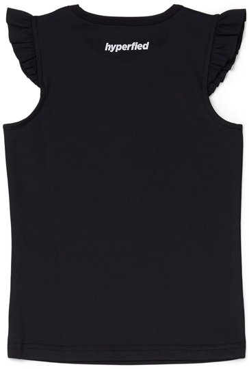 Hyperfied Frill Tank Top, Anthracite 86-92