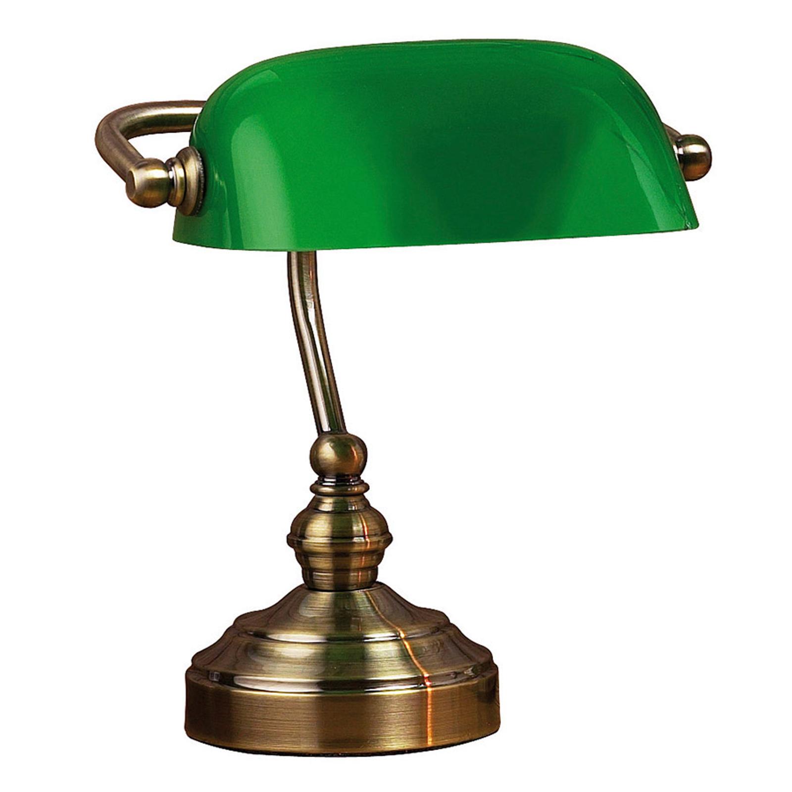 Pöytävalaisin Bankers, korkeus 25 cm, vihreä