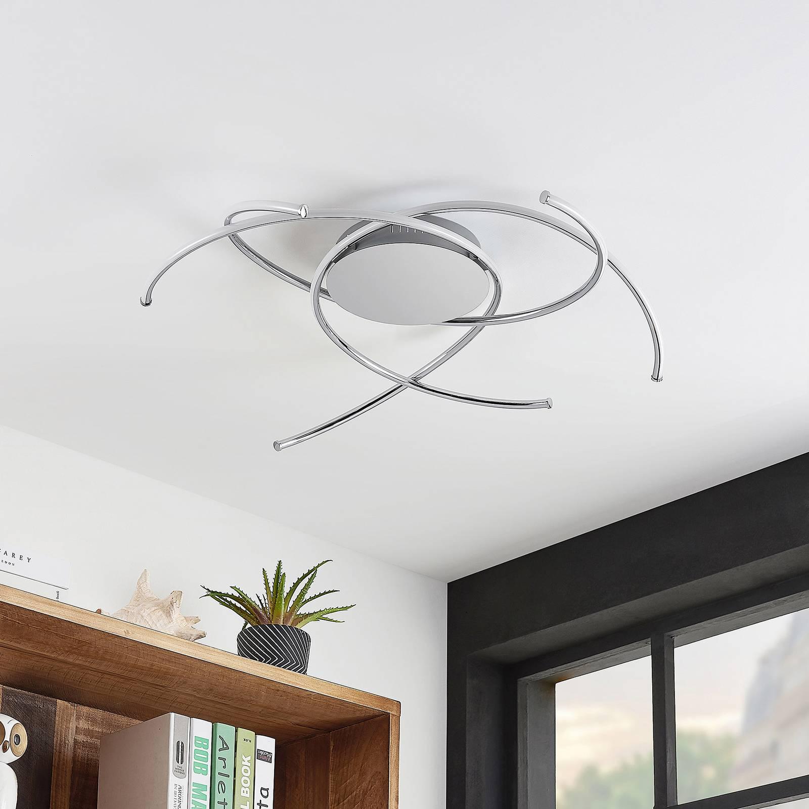 Lindby Yareli -LED-kattovalaisin, hopea