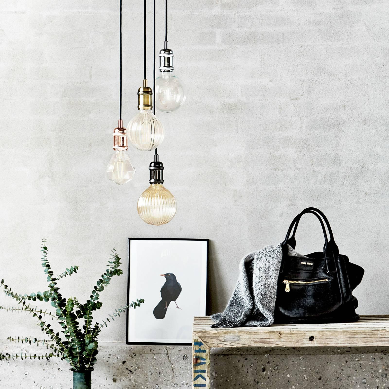 Avra - minimalistinen riippuvalo, kromi