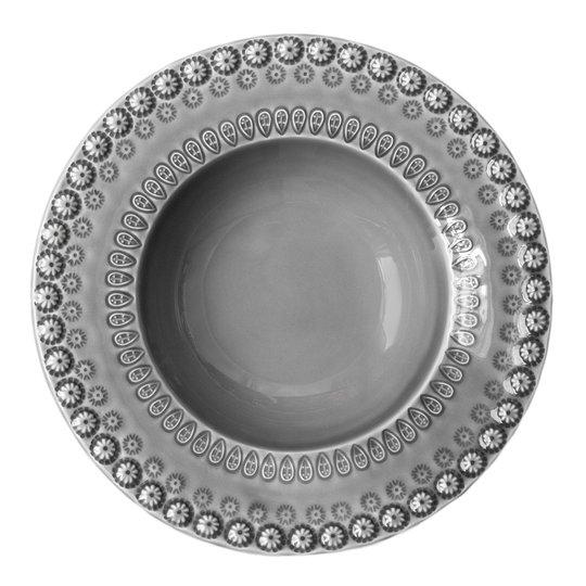 PotteryJo - Daisy Sopptallrik 21 cm Soft Grey