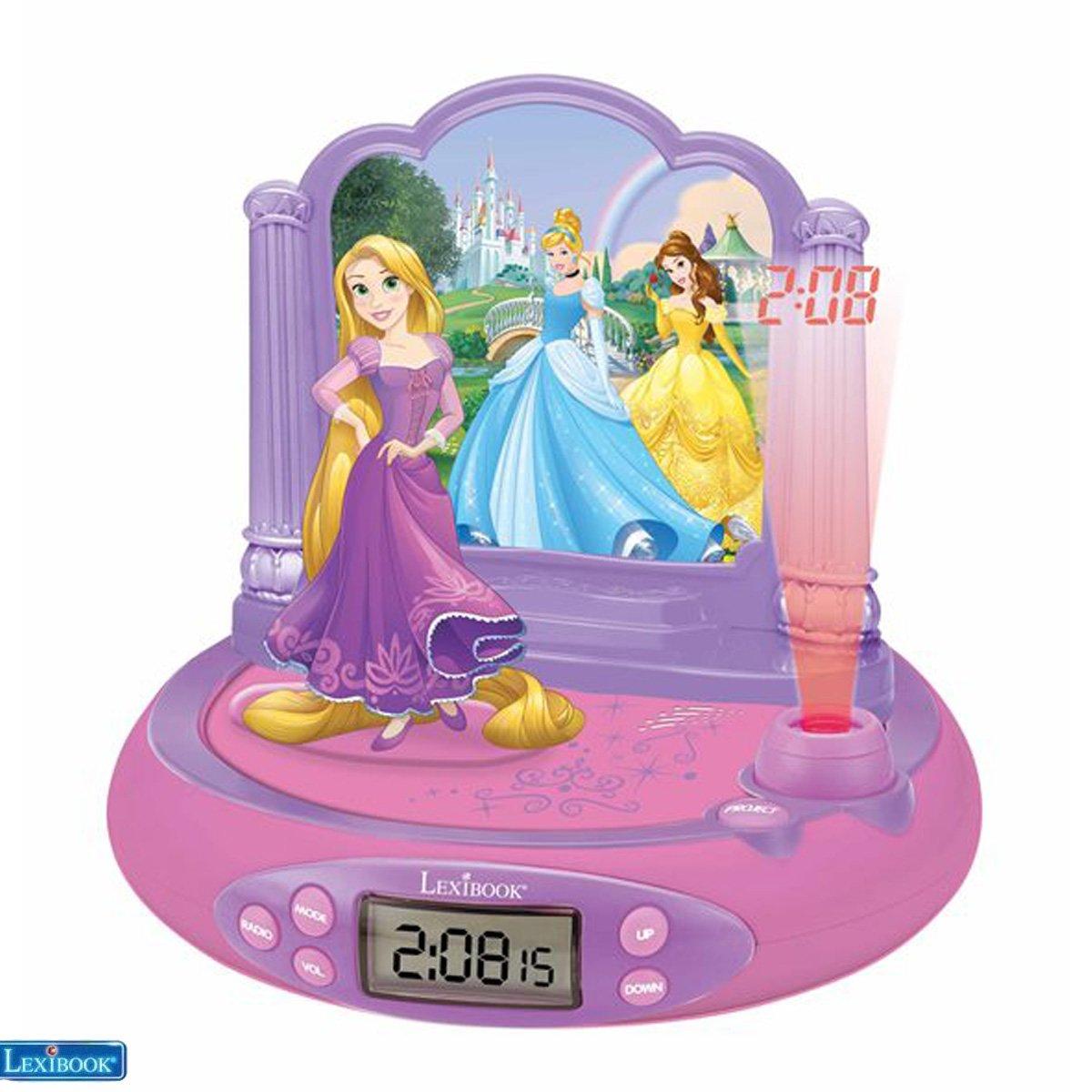 Lexibook - Disney Princess Rapunzel Projector Clock with magical sounds (RP515DP)