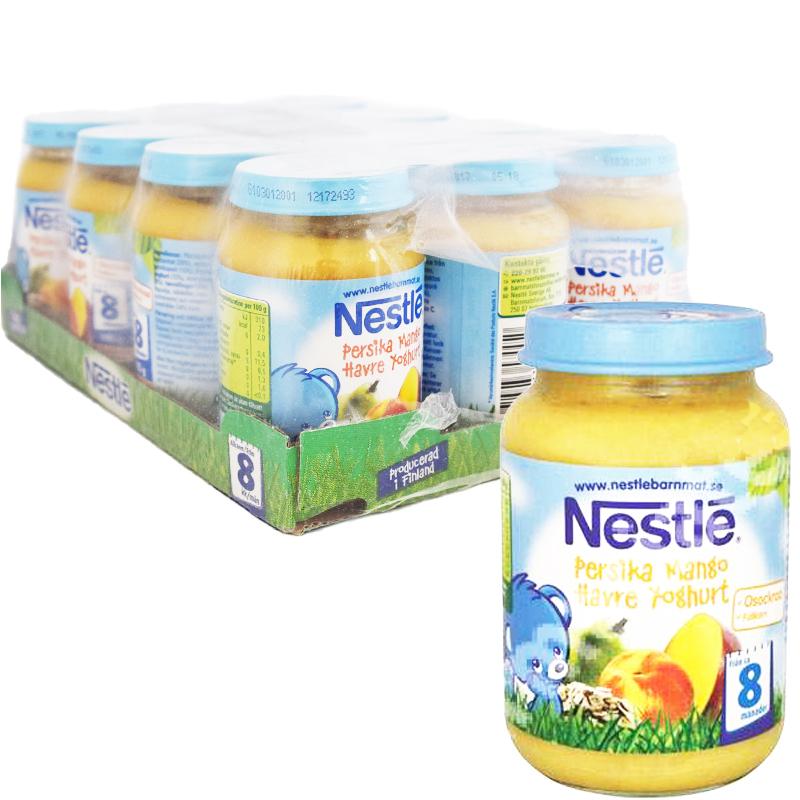 Hel Låda Barnmat Persika, Mango & Yoghurt 12 x 195g - 50% rabatt