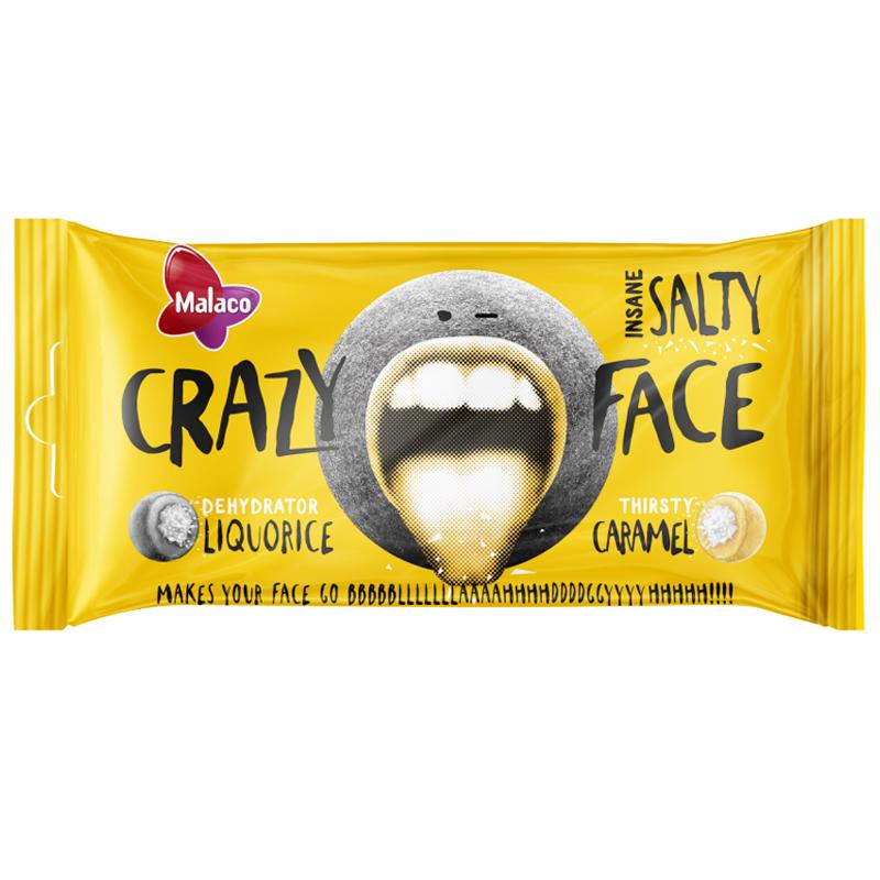 "Godis ""Crazy Face Salty"" 60g - 41% rabatt"