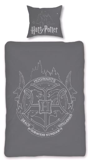 Bed Linen - Adult Size 140 x 200 cm - Glow in The Dark - Harry Potter (HP035- CS)