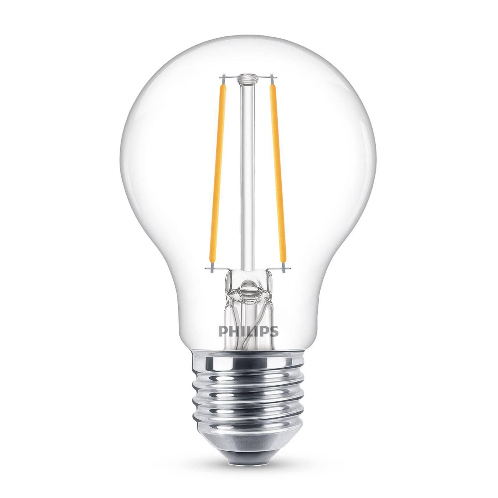 Philips Classic LED-pære E27 A60 2,2W klar 2 700K