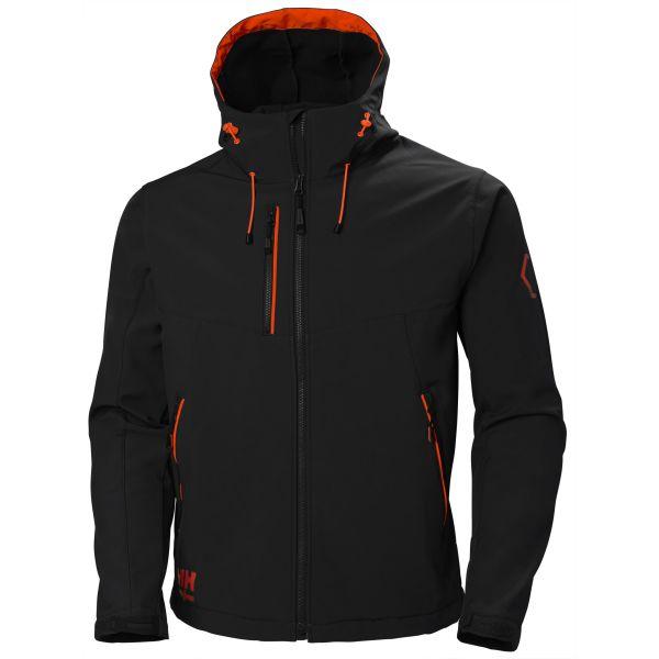 Helly Hansen Workwear Chelsea Evolution Softshelljacka svart/röd Strl S