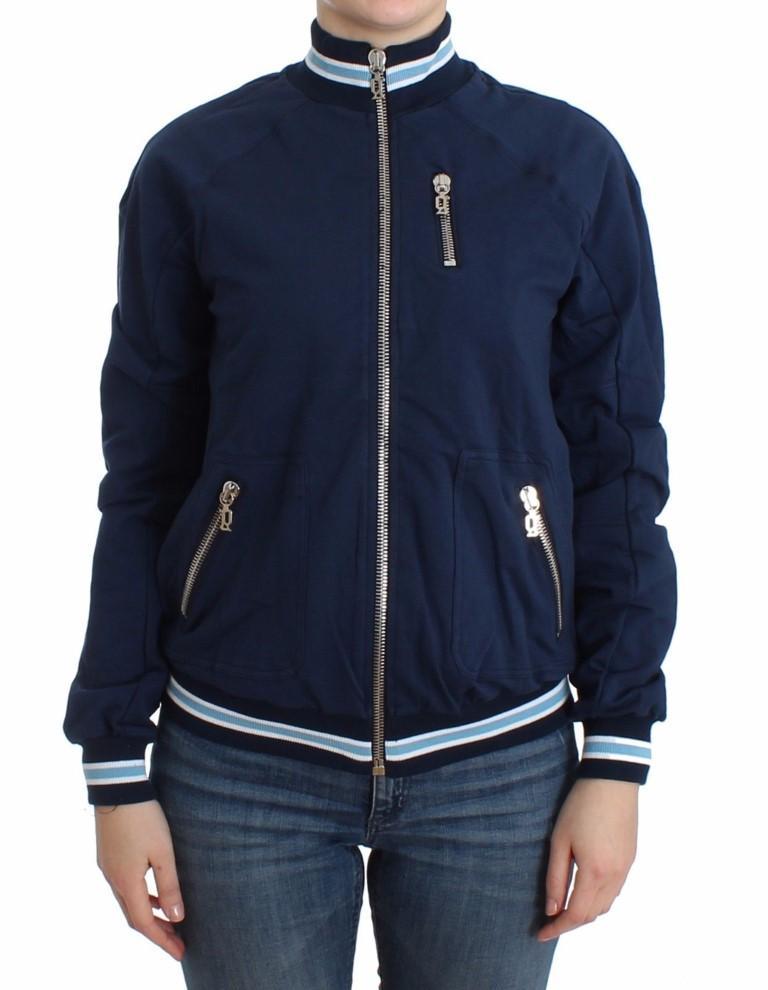 John Galliano Women's Zip Cotton Cardigan Blue SIG12100 - XXS