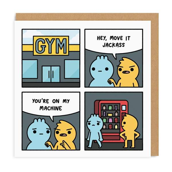My Machine Square Greeting Card