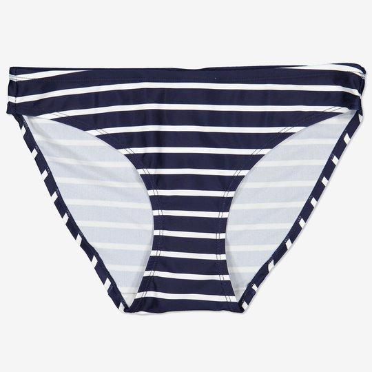 Stripet bikinibukse voksen mørkblå