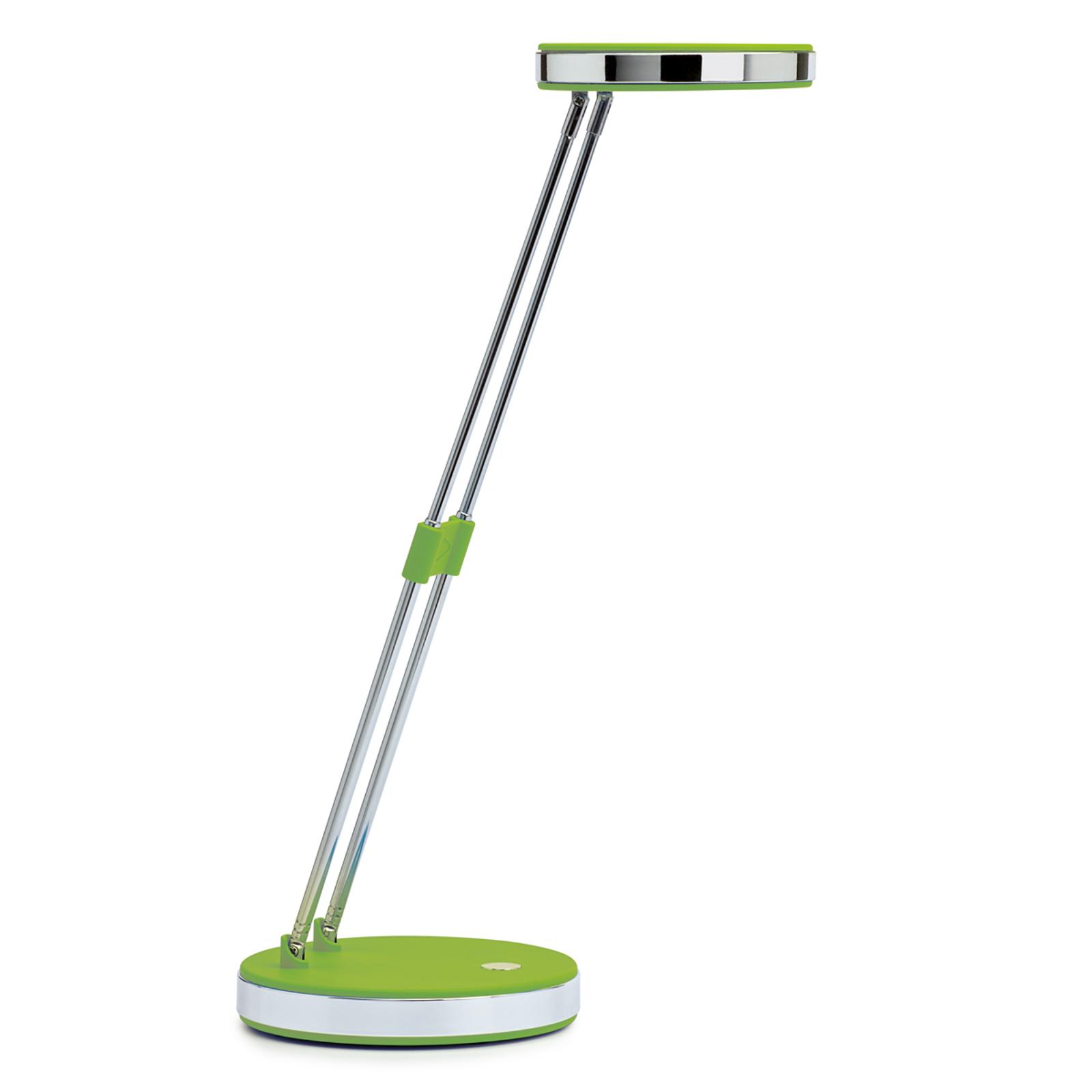 Trendikäs LED-työpöytälamppu Puck, vihreä