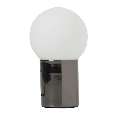 Ludde krom/opal bordlampe