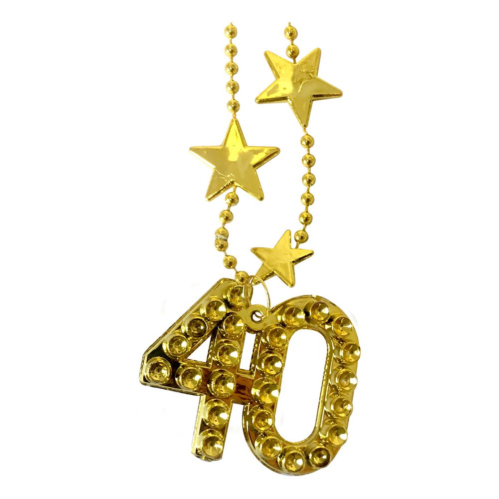Halsband Guld Siffra 40