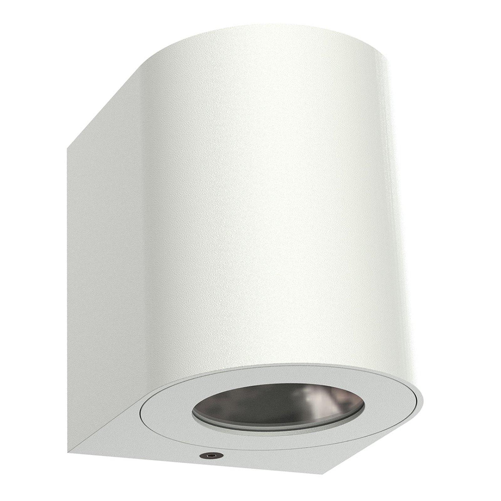 Utendørs LED-vegglampe Canto 2, 10 cm, hvit