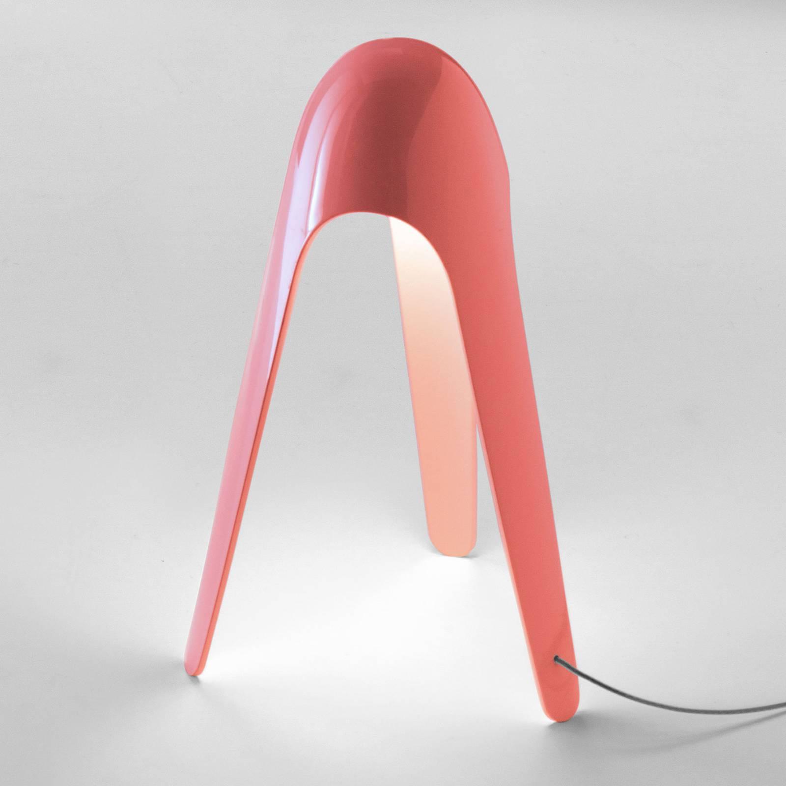 Martinelli Luce Cyborg -LED-pöytälamppu, koralli