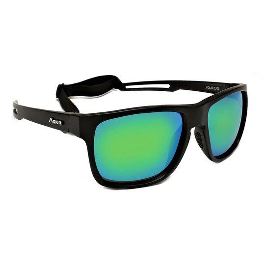 Aqua Polar solglasögon, Mirror Green