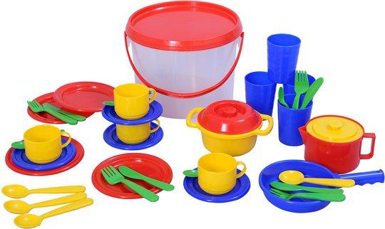 Plasto Bøtte Med Kjøkkenleker 39 Deler