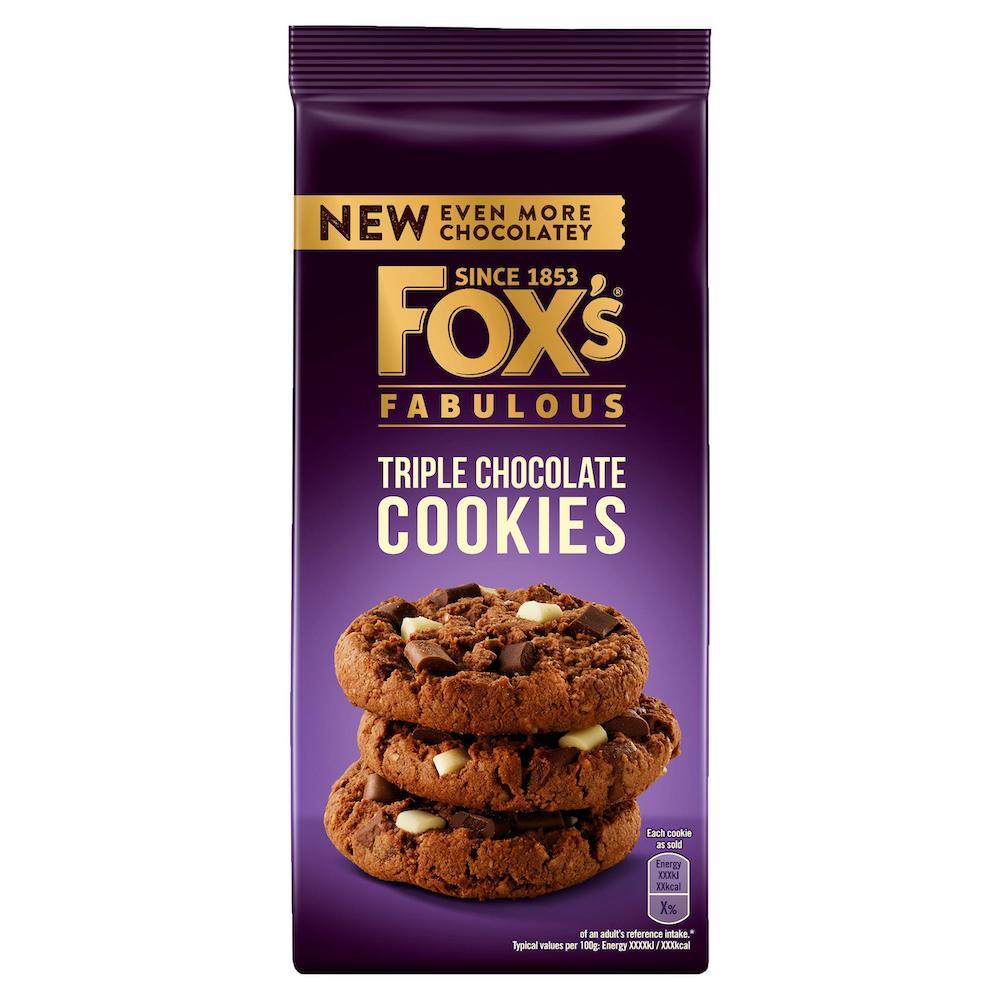 Foxs Fabulous Triple Chocolate Cookies 180g