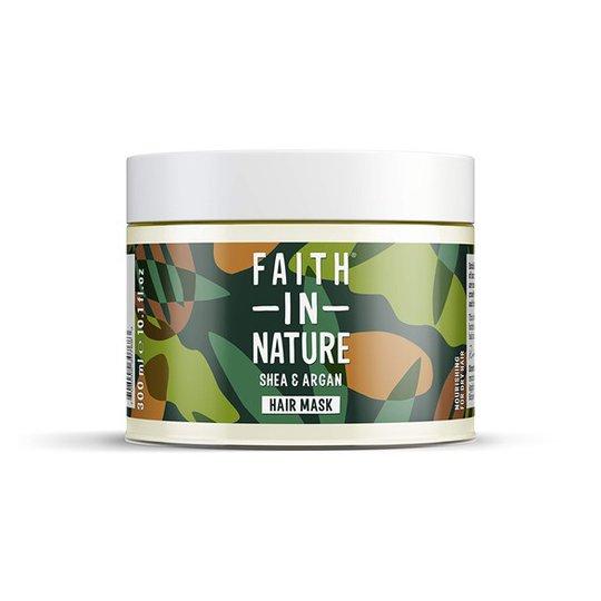 Faith in Nature Shea & Argan Nourishing Hair Mask, 300 ml