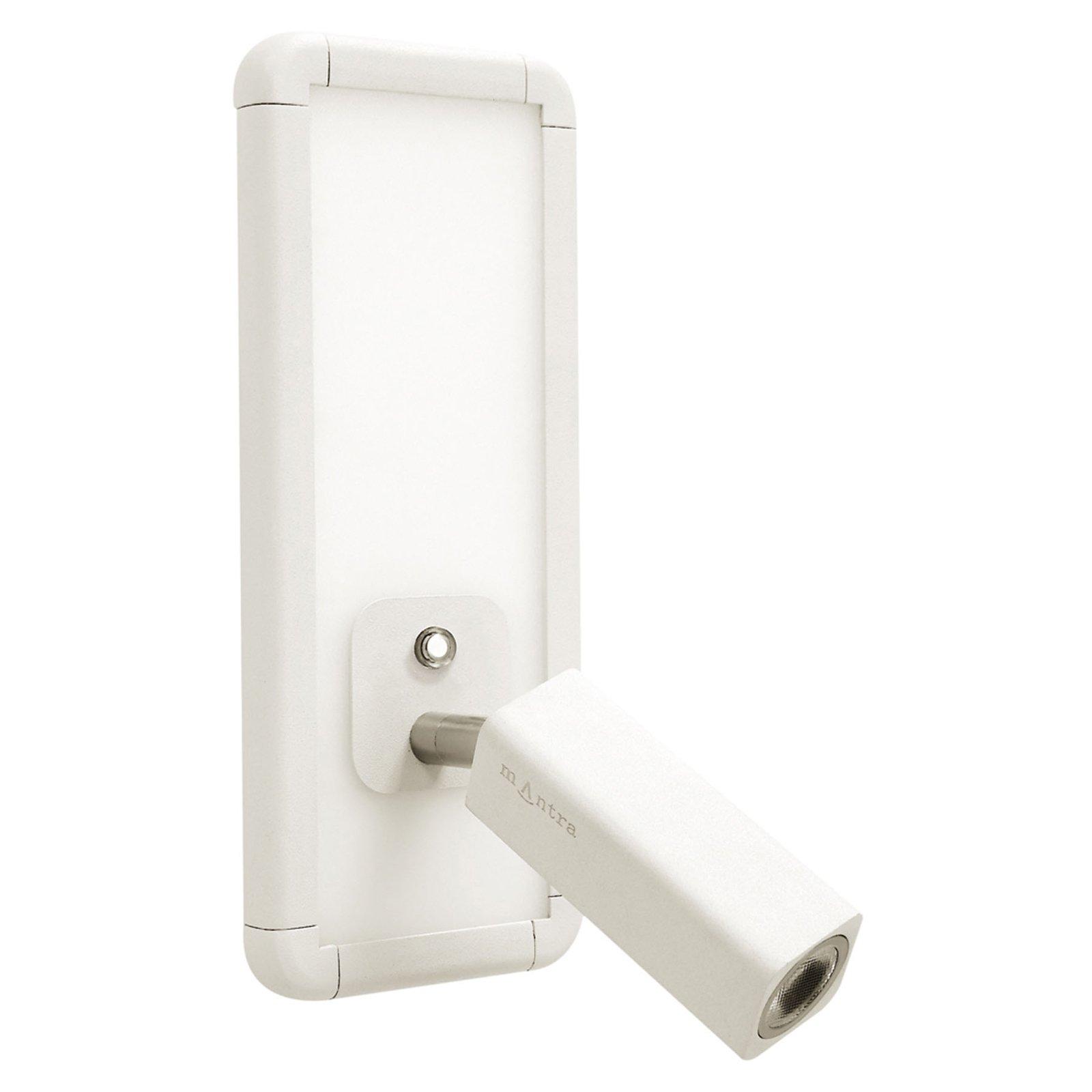 Ibiza LED-vegglampe med lesearm, hvit