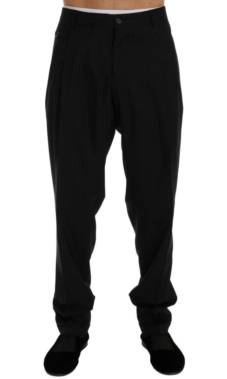 Dolce & Gabbana Men's Striped Wool Stretch Trouser Blue PAN60376 - IT54 | XXL