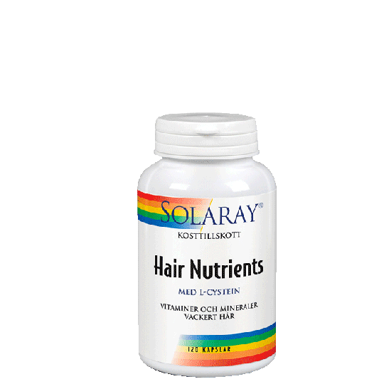 Solaray Hair Nutrients, 60 kapslar