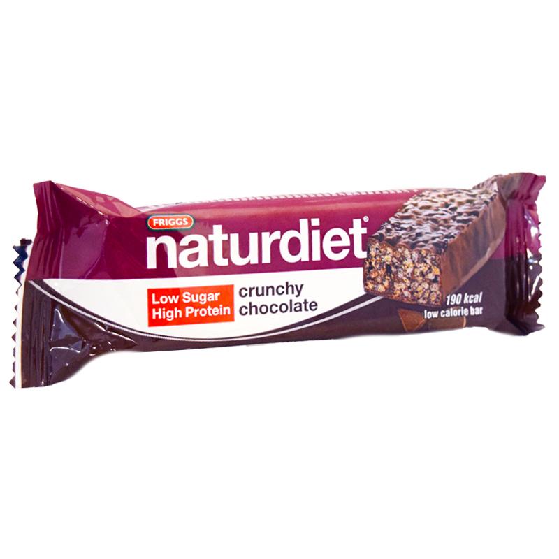 """Naturdiet Bar """"Crunchy Chocolate"""" 50g - 50% rabatt"""