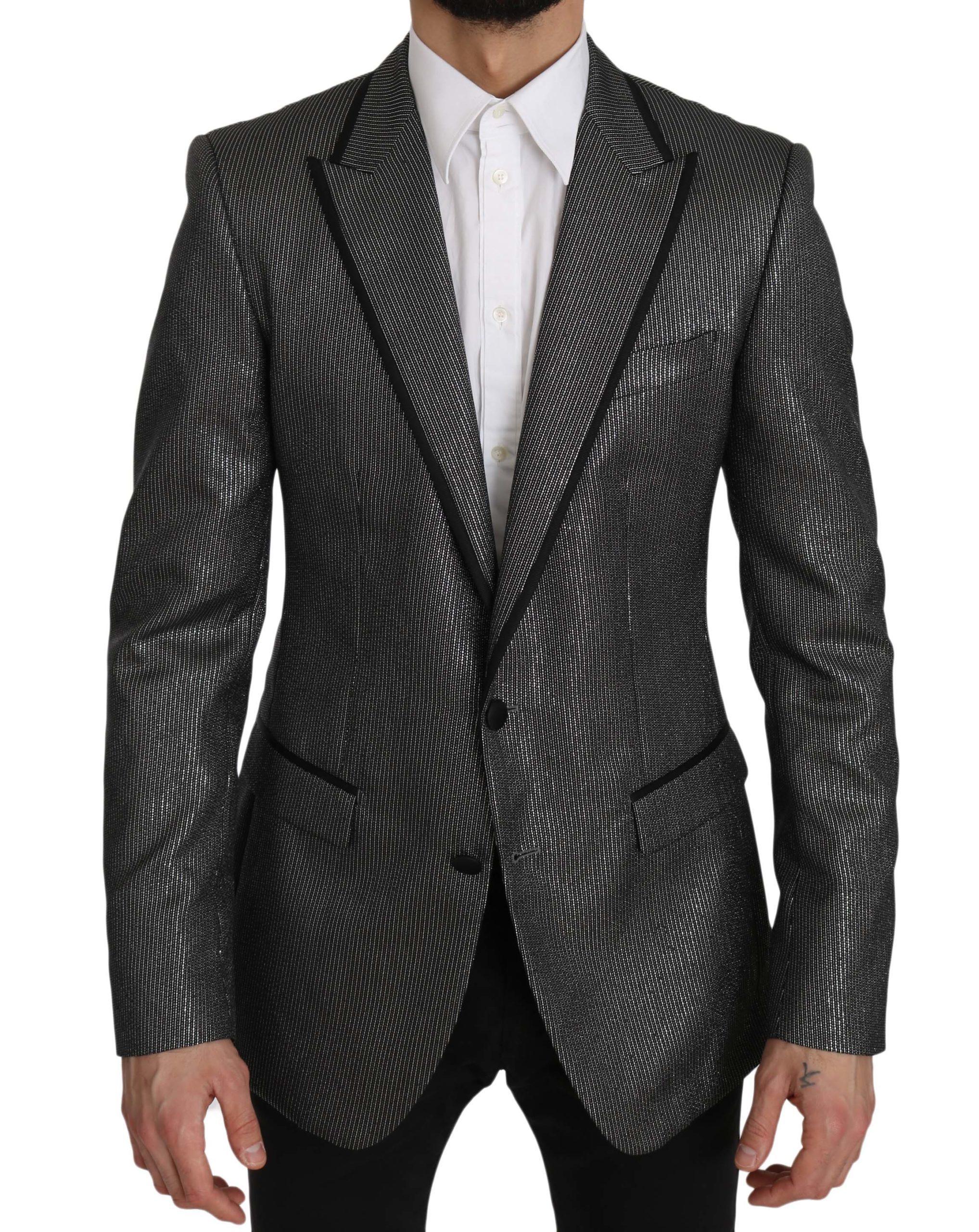 Dolce & Gabbana Men's Striped MARTINI Slim Blazer Gray JKT2364 - IT48 | M