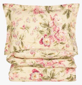 Floral Ballet percale pussilakanasetti percalea vaaleankeltainen