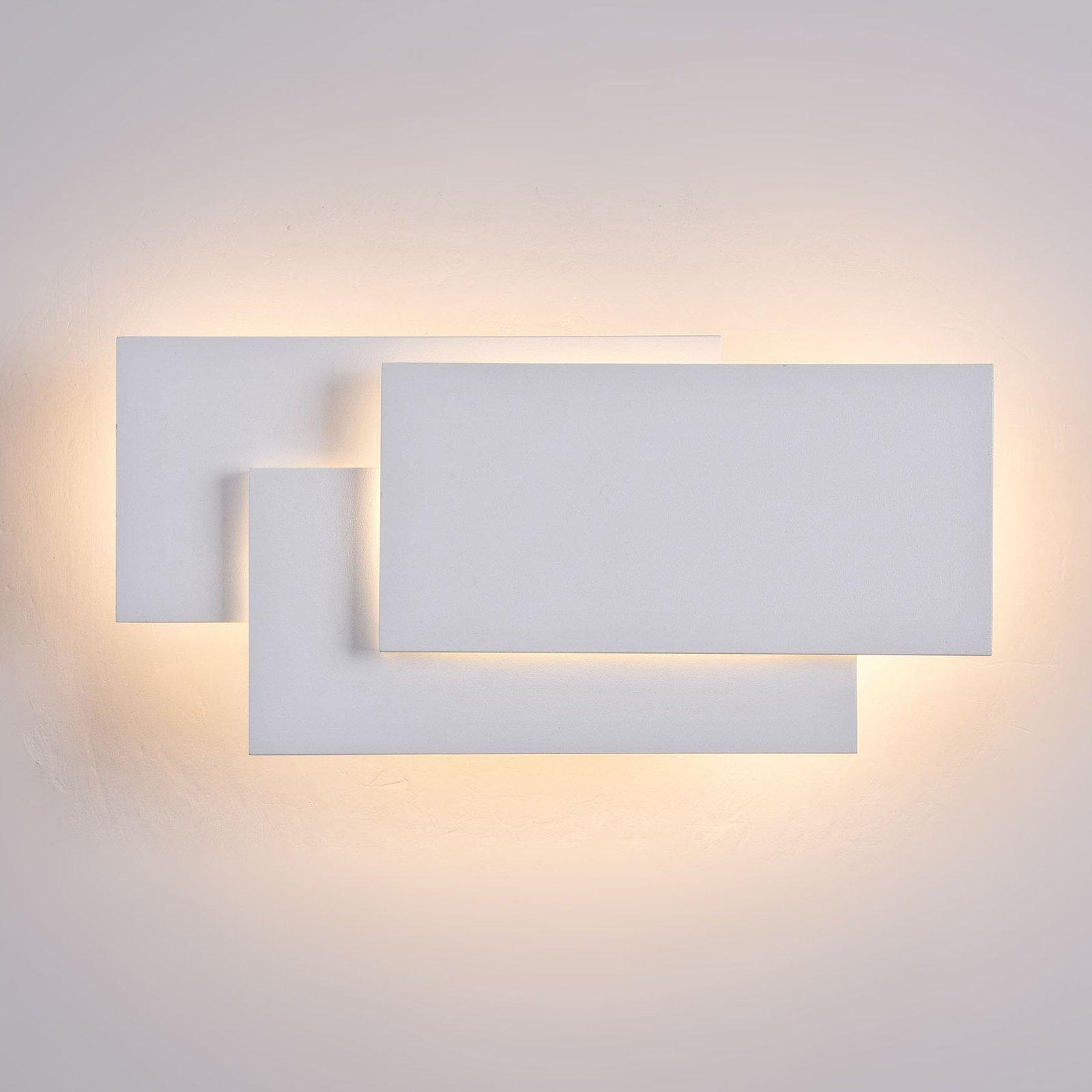 Trame LED-vegglampe, firkantet