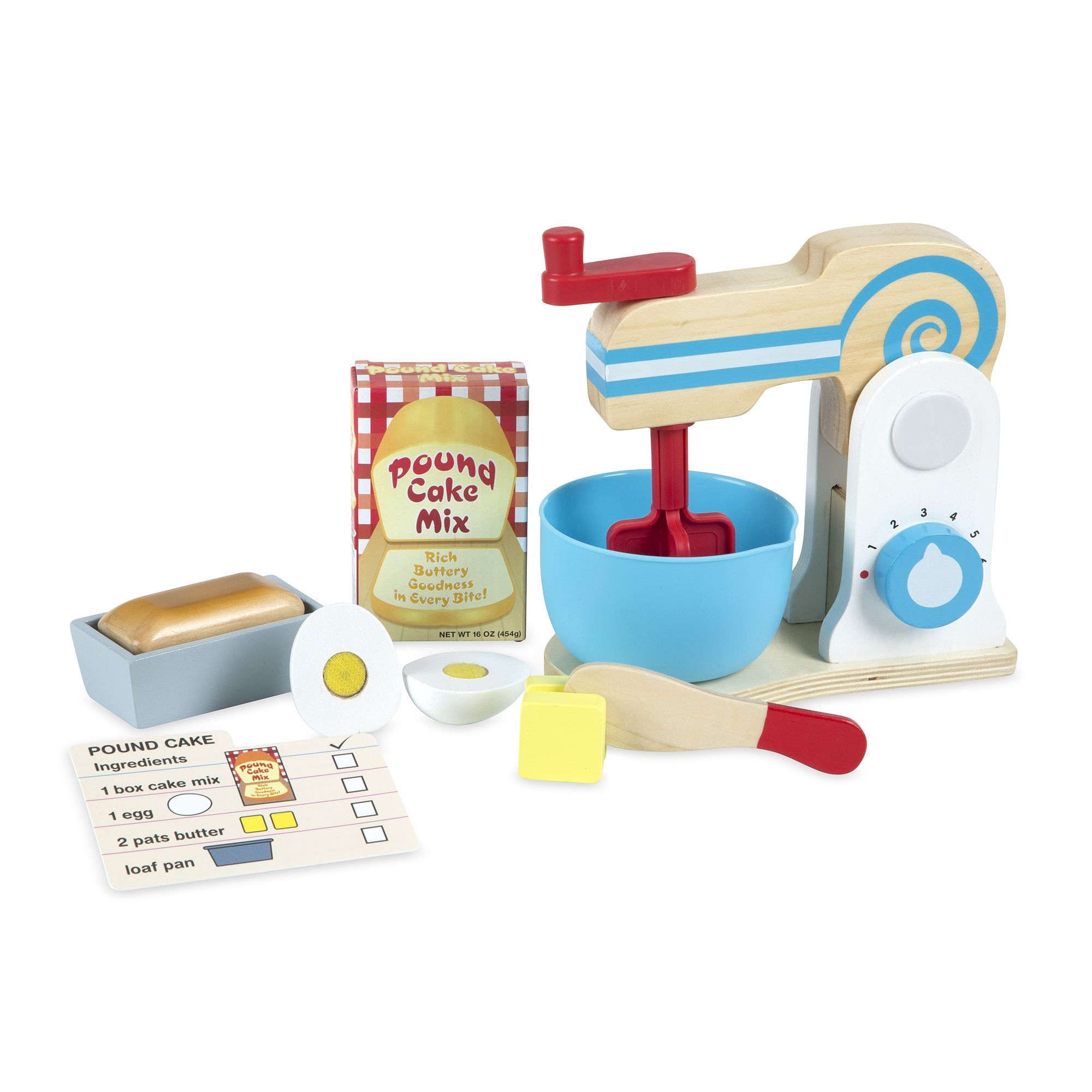 Melissa & Doug - Wooden Make-a-Cake Mixer Set (19840)