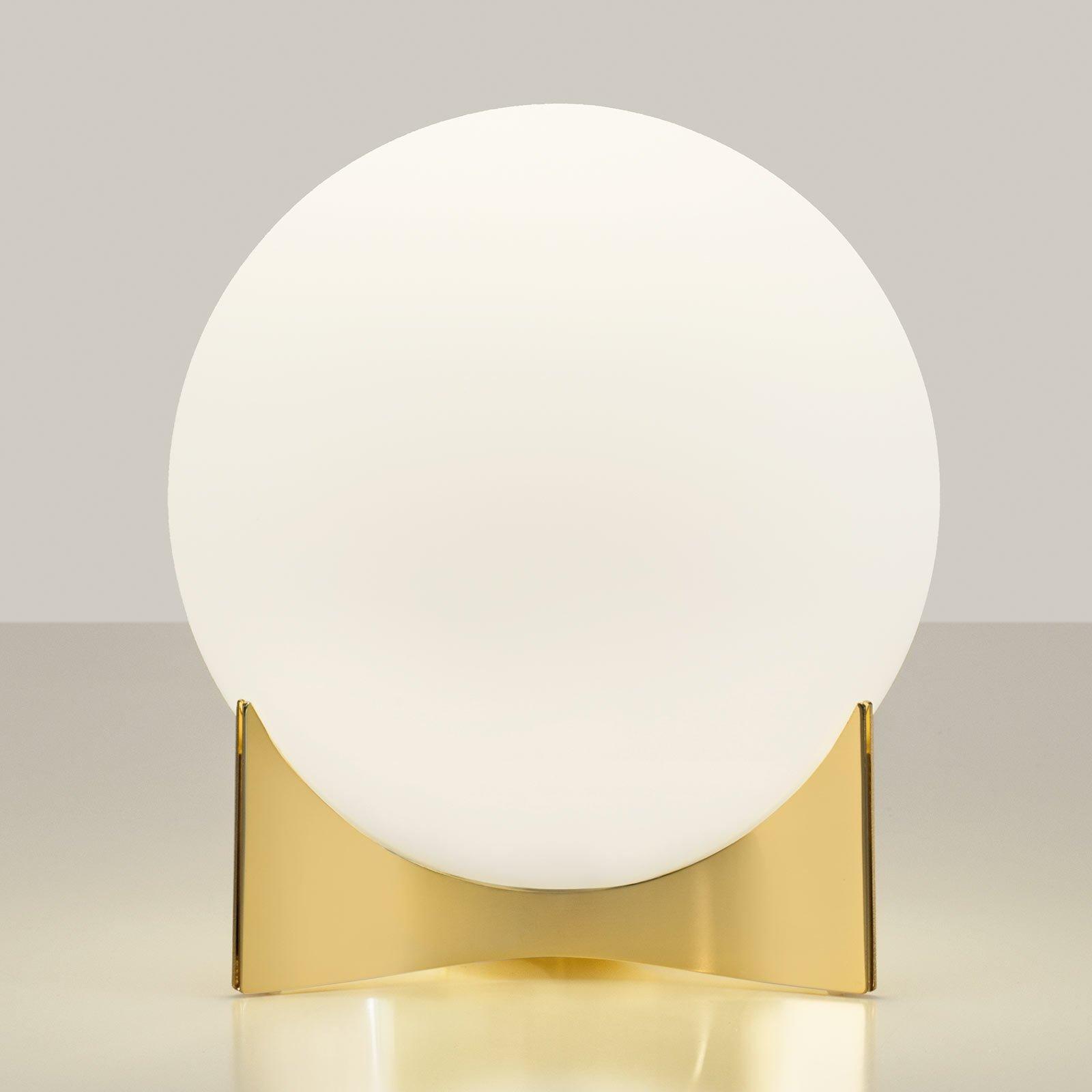 Terzani Oscar bordlampe av glass, gull