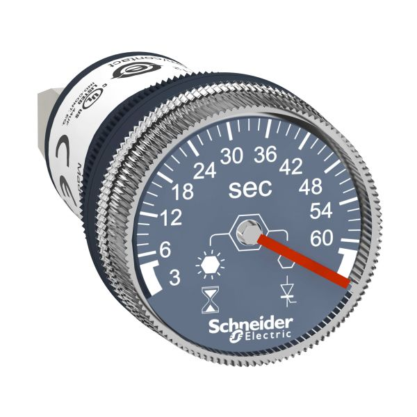 Schneider Electric XB5DTGM3 Tidsrelé 22 mm, 100–240 V 3-60 sek.