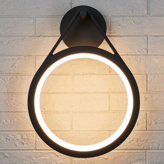Utendørs LED-vegglampe Mirco, ringformet, IP65
