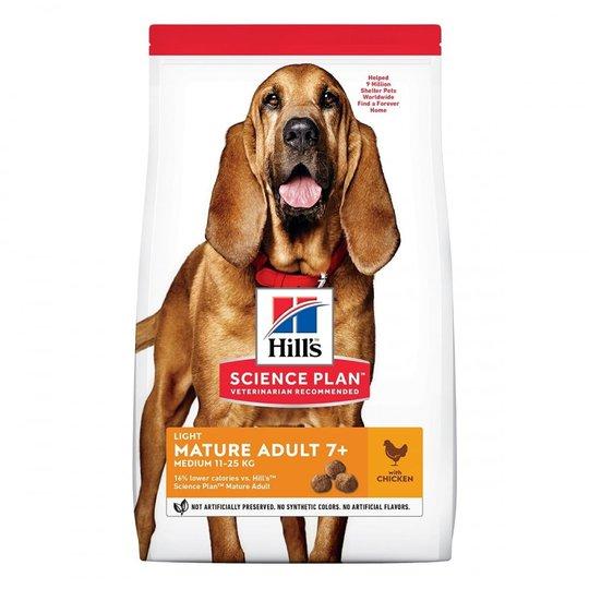 Hill's Science Plan Dog Mature Adult Light Medium Breed Chicken (14 kg)