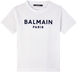 Balmain Logo T-shirt Vit 6 år