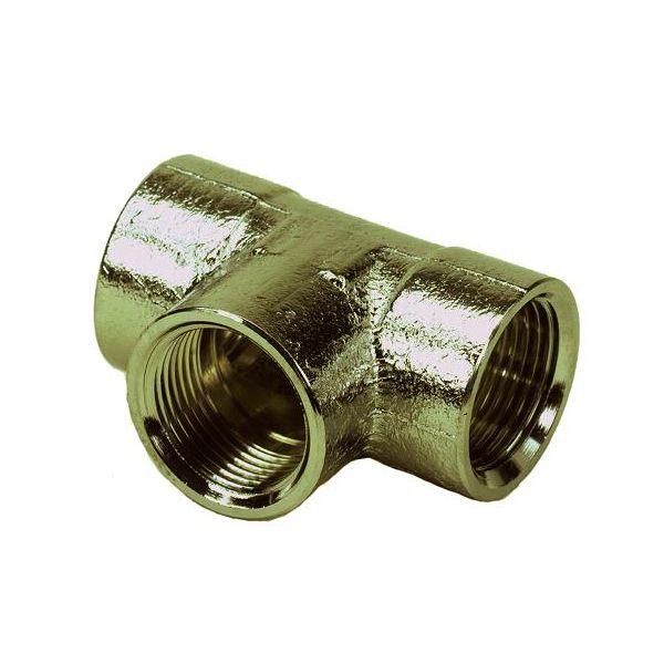 Ezze 3006086992 T-rør metall, inv gjenge G10, messing