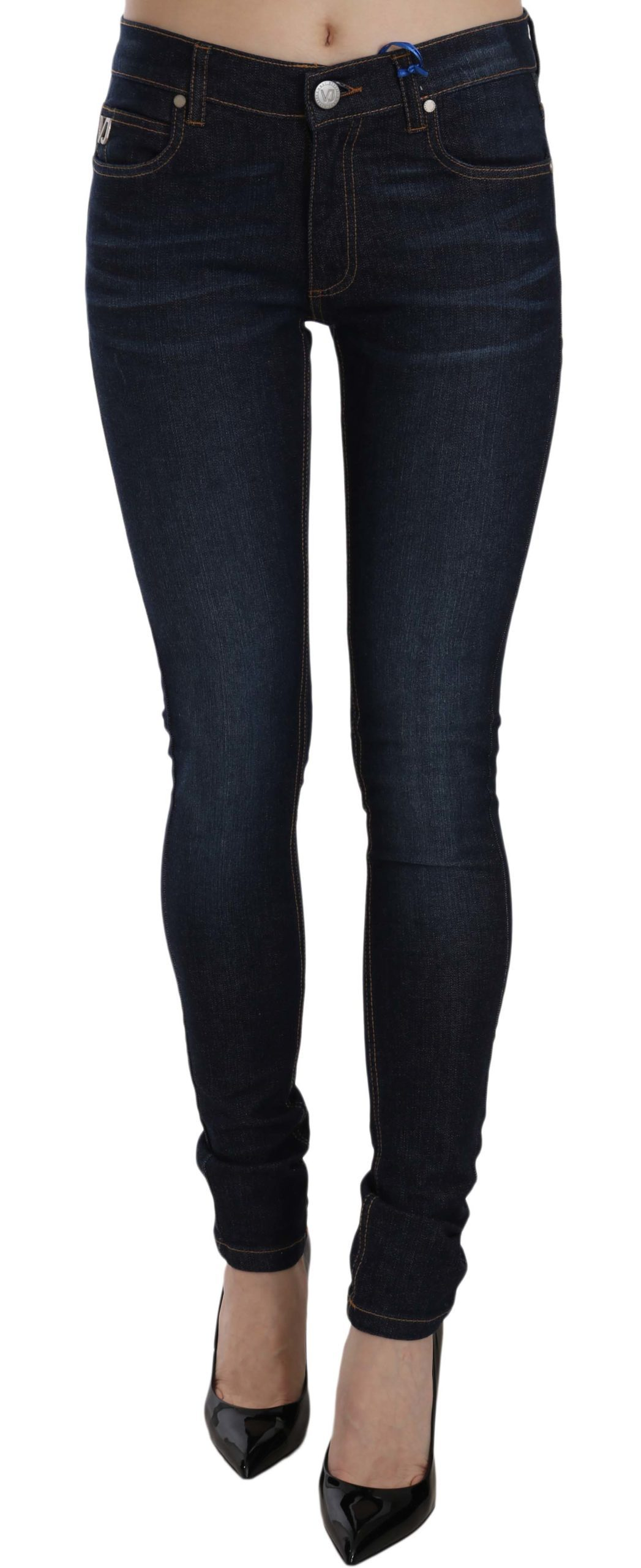 Versace Jeans Women's Stretch Denim Cotton Skinny Fit Trouser Blue PAN61015 - W30
