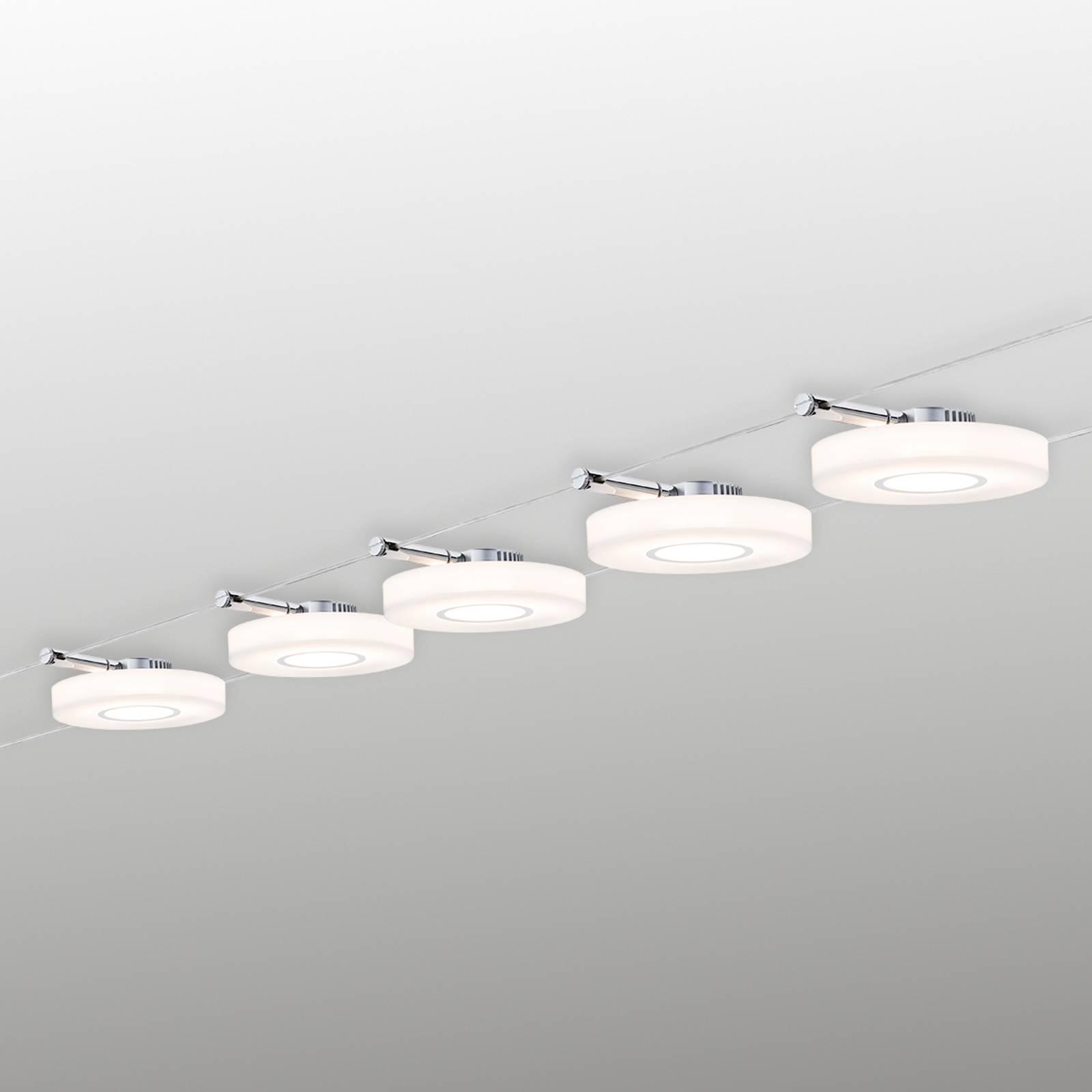 Paulmann DiscLED I köysijärjestelmä, 5-lamppuinen